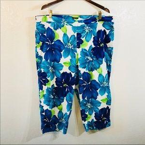 Plus Size Floral Pants